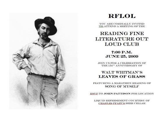 Walt Whitman Invitation