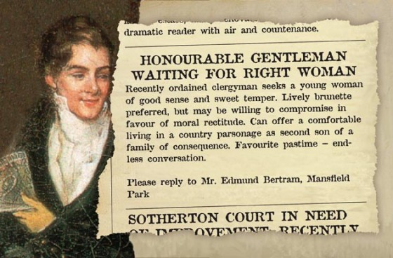 Mansfield Park Personal Ad